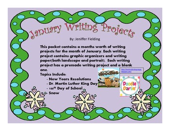 January Writing Projects K-2