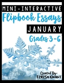 January Writing Projects for 3rd, 4th, 5th, and 6th grades CCSS aligned