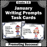 New Years Day Activities, January Writing Prompts Task Cards