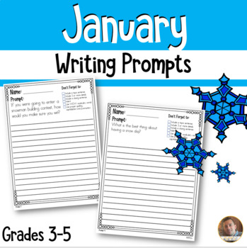 January Writing Prompts- 16 Engaging Descriptive Writing Prompts