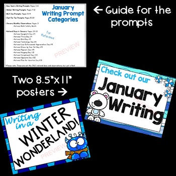 January Writing Prompts *30 prompts!*