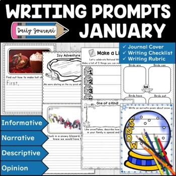 January Writing Prompts | January Journal | Expository and Creative Writing