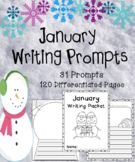 January Writing Prompts on Themed Paper {120 Differentiated Pages!}