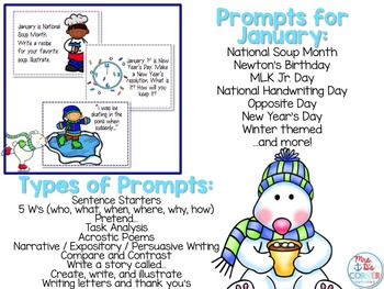 January Writing Journal Prompts  ( Creative Writing Center )