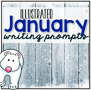 January Photo Writing Prompt Task Cards