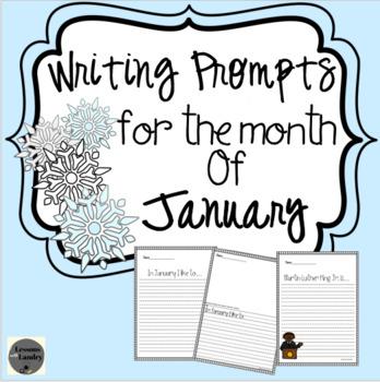 January Writing Prompts Kindergarten - 2nd Grade