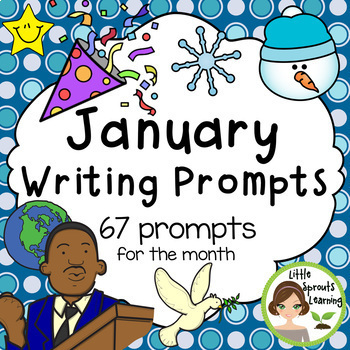 January Writing Prompts - New Year's day, Winter and Martin Luther King