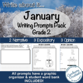 Writing Prompts for Second Graders | January Themes