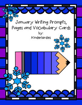 January Writing Prompts, Pages and Vocabulary Cards
