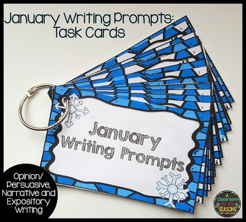 January Writing Prompts: Task Cards