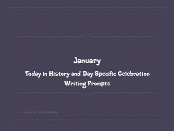 January Writing Prompts: Today in History