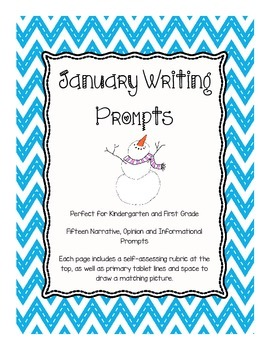 January Writing Prompts for Kindergarten and First Grade