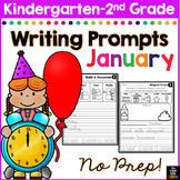 January Writing Prompts for Kindergarten to Second Grade