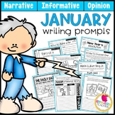 January Writing Prompts | Real-World & Draw & Write Formats | Distance Learning