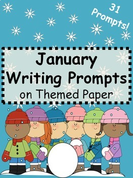 January Writing Prompts on Themed Paper {Just Print & Go!}