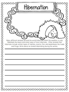January Writing Prompts with Editable Pages: Journals, Homework & More
