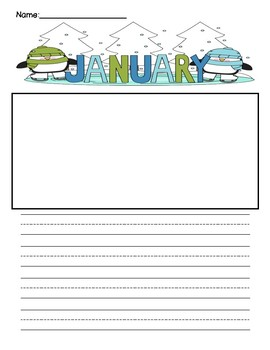 January Writing Template