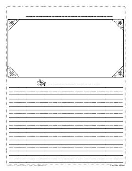 January Writing Template - FREEBIE!