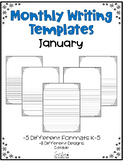 January Writing Templates Editable