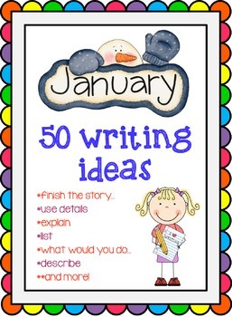 January Writing Topic Cards {50 Cards}