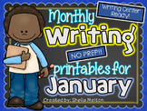 January Writing Center NO PREP Printables