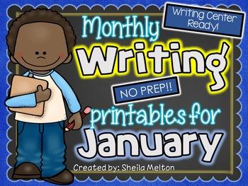 January Writing Center NO PREP Printables