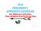 January and February Kindness Calendar