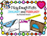 January and February Play Dough Mats and Writing