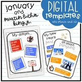 January and Martin Luther King, Jr. Digital Templates and