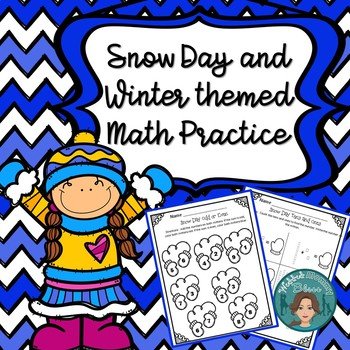 January and Snow themed Morning work Themed Math for First Grade