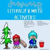 January and Winter Literacy & Math Activities