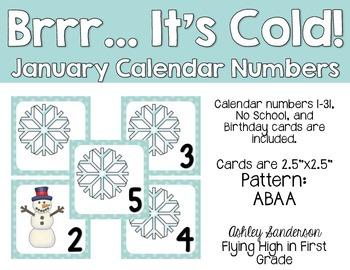 January calendar days