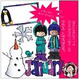 January clip art - Mini - Melonheadz Clipart