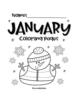 January Coloring Pages By Mrs Arnolds Art Room Tpt