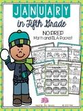 January in Fifth Grade (NO PREP Math and ELA Packet)