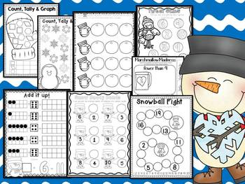 January in a Snap: No Prep Printables for Math and Literacy Skills