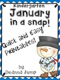 January in a Snap: No Prep Printables for Math and Literac