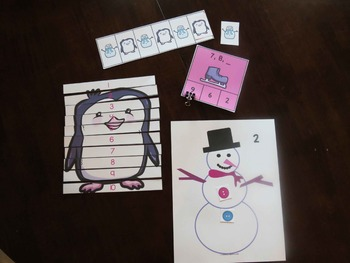 January or Winter Math Games/Centers-English and Spanish