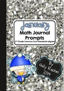 Second Semester Math Journal Prompts Bundle Second Grade