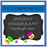 January vocabulary playdough mats