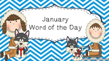 January Word of the Day (NO PREP)