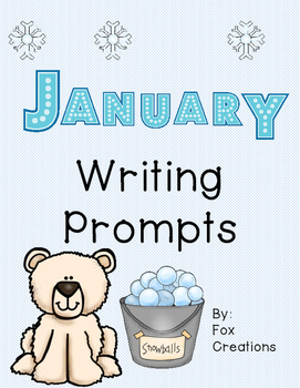 January writing prompts ~ Easy as 1, 2, 3
