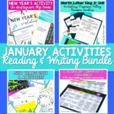 January Reading and Writing Resources Bundle for Middle School