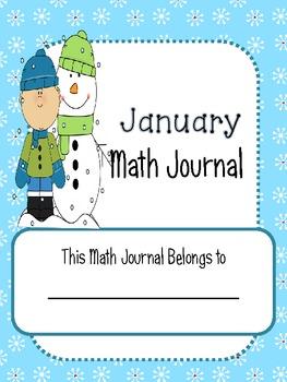 January/Winter 2nd Grade Common Core Math Journal Prompts