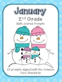 January/Winter 2nd Grade Common Core Math Journal Prompts