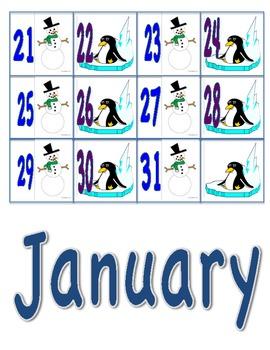 January/Winter Calendar Pieces