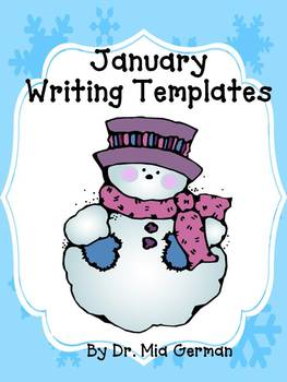 January & Winter Writing Templates (a writing resource for beginning writers)
