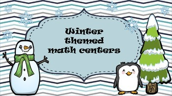 January/Winter math centers