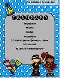 Janurary Writing Menu with Graphic Organizers & Publishing Paper! Freebie Inc.!