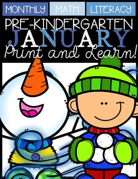 Januray Print and Learn (Snowman)